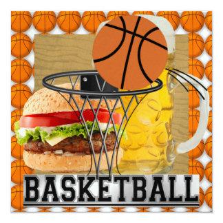 """Fiesta del baloncesto invitación 5.25"""" x 5.25"""""""