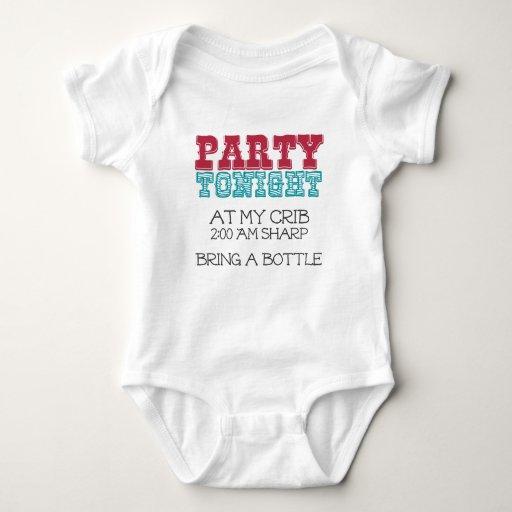 Fiesta del bebé esta noche en mi pesebre tshirts