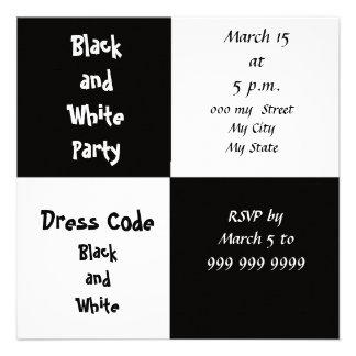 Fiesta del blanco y del negro anuncio