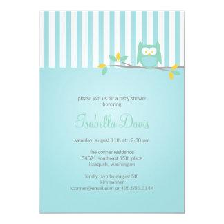 Fiesta del búho/invitación de la ducha invitación 12,7 x 17,8 cm