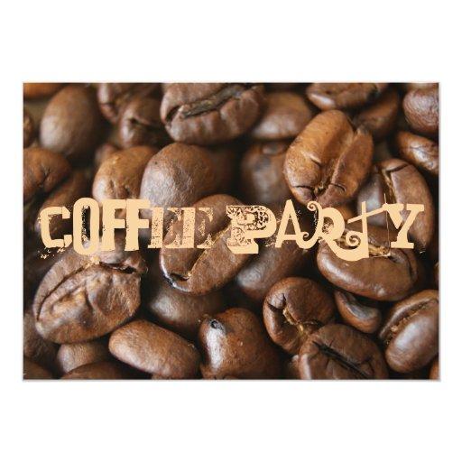 Fiesta del café invitación 12,7 x 17,8 cm