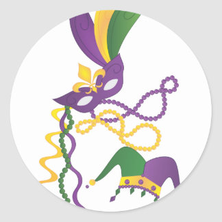 Fiesta del carnaval etiqueta redonda