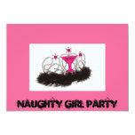 Fiesta del chica de Naughy Invitación 12,7 X 17,8 Cm