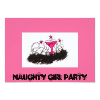 Fiesta del chica de Naughy Comunicados Personalizados