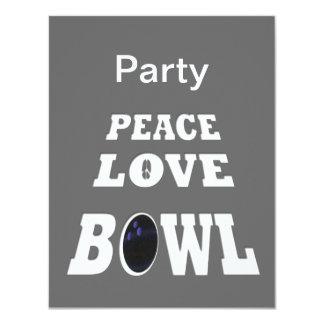 """Fiesta del cuenco del amor de la paz invitación 4.25"""" x 5.5"""""""