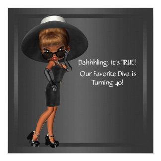 Fiesta del cumpleaños afroamericana de la mujer de anuncios