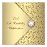 Fiesta del cumpleaños de la mujer de la perla del invitacion personalizada