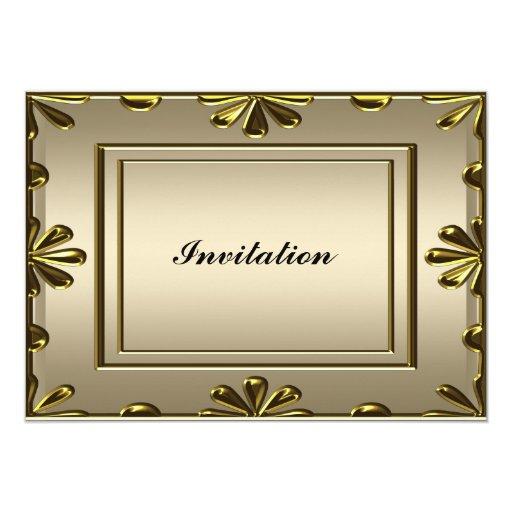 Fiesta del cumpleaños de las mujeres elegantes invitación 12,7 x 17,8 cm