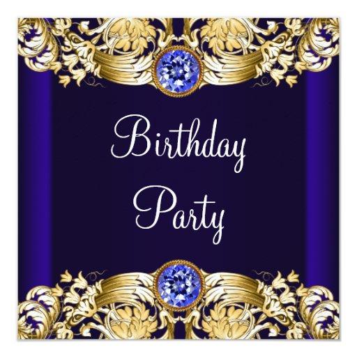 Fiesta del cumpleaños de los azules marinos de la comunicados