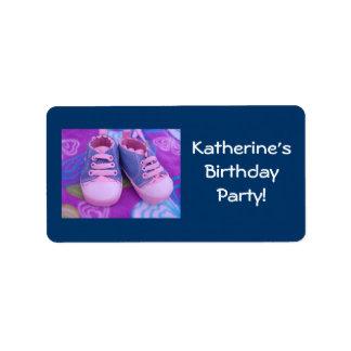 ¡Fiesta del cumpleaños del niño El nombre de etiq Etiquetas De Dirección