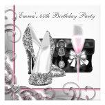 Fiesta del cumpleaños rosada de la mujer