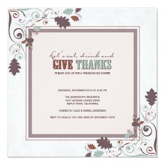 Fiesta del Día de Acción de Gracias de los Invitación