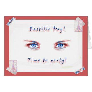 ¡Fiesta del día de Bastille! Tarjeta De Felicitación