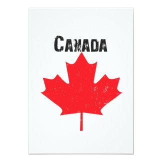 """Fiesta del día de Canadá Invitación 5"""" X 7"""""""