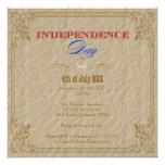 Fiesta del Día de la Independencia Invitaciones Personalizada