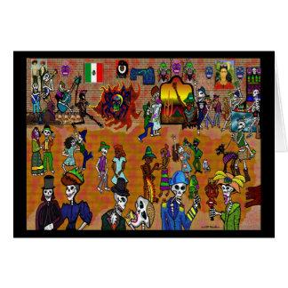 Fiesta del dia de Los Muertos Card