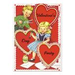 Fiesta del día de San Valentín del vintage Invitación 12,7 X 17,8 Cm