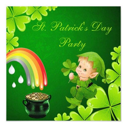 """Fiesta del día de St Patrick lindo Invitación 5.25"""" X 5.25"""""""