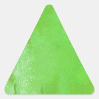 Fiesta del día de St Patrick verde de la cerveza Pegatina Triangular