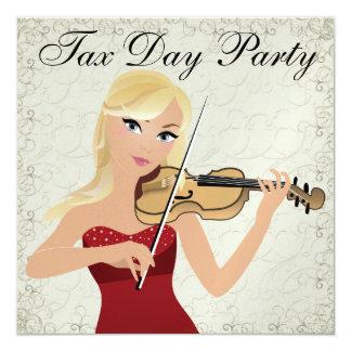Fiesta del día del impuesto - Misery Loves Invitación 13,3 Cm X 13,3cm