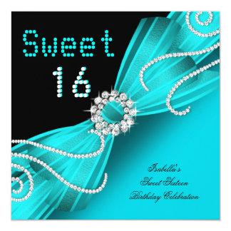 Fiesta del diamante del trullo del dulce dieciséis invitacion personalizada