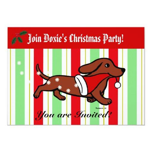 Fiesta del dibujo animado del navidad del invitación personalizada