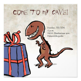 fiesta del dinosaurio invitación personalizada