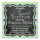 Fiesta del dulce 16 de la pizarra de Chevron del Invitaciones Personales