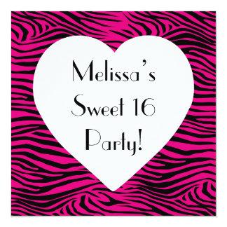"""Fiesta del dulce 16 invitación 5.25"""" x 5.25"""""""