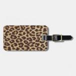 Fiesta del estampado leopardo etiquetas bolsas