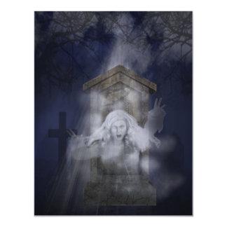 """Fiesta del fantasma de Halloween Invitación 4.25"""" X 5.5"""""""