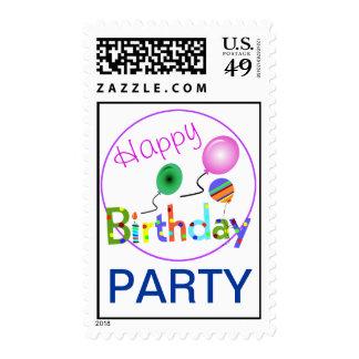 Fiesta del feliz cumpleaños sellos