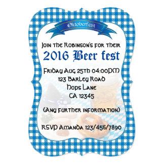 """Fiesta del fest de la cerveza personalizado invitación 5"""" x 7"""""""