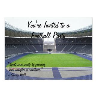 """Fiesta del fútbol invitación 5"""" x 7"""""""