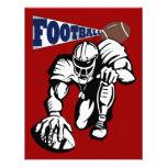 Fiesta del fútbol rojo, blanco, y azul por SRF Comunicado Personalizado