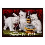 ¡Fiesta del gatito! Antes y después - de tarjeta d