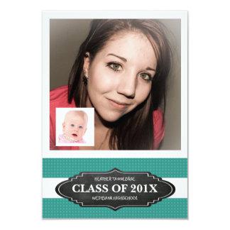 """Fiesta del graduado con el bebé y las fotos invitación 3.5"""" x 5"""""""
