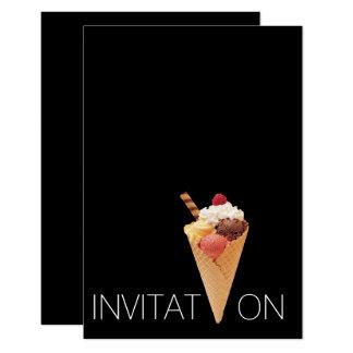 """Fiesta del helado de Gelato del italiano del Invitación 3.5"""" X 5"""""""