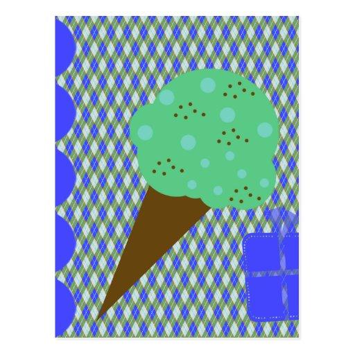 ¡Fiesta del helado! Postal