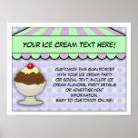 Fiesta del helado, Shoppe dulce en colores pastel Poster
