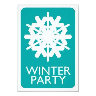 """fiesta del invierno del indie invitación 3.5"""" x 5"""""""
