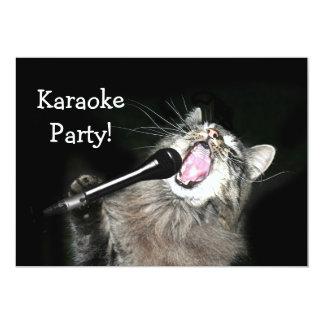 Fiesta del Karaoke Invitación 12,7 X 17,8 Cm