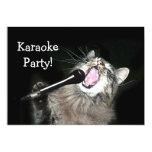 """Fiesta del Karaoke Invitación 5"""" X 7"""""""