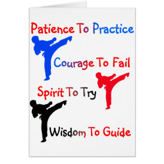 Fiesta del karate tarjetón