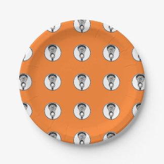 fiesta del lacrosse plato de papel de 7 pulgadas
