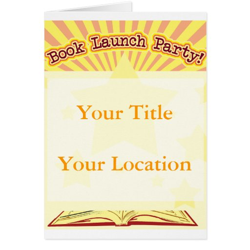 Fiesta del lanzamiento del libro tarjeta de felicitación