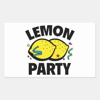 Fiesta del limón pegatina rectangular
