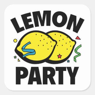 Fiesta del limón pegatina cuadrada