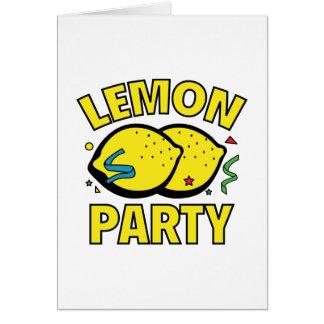 Fiesta del limón tarjeta de felicitación