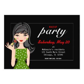 Fiesta del maquillaje invitación 12,7 x 17,8 cm